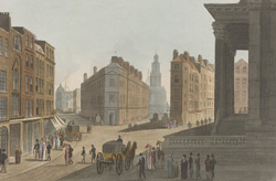 View of Cornhill, Lombard Street and Mansion House.
